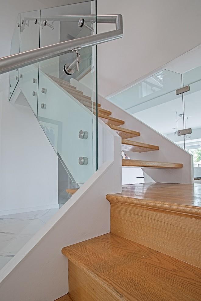 Residential Glass Railings - Modern - Staircase - Miami ...