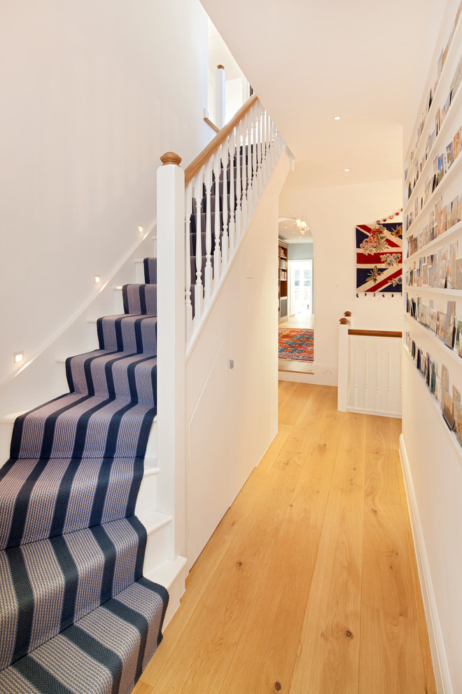 Example of a classic curved staircase design in London
