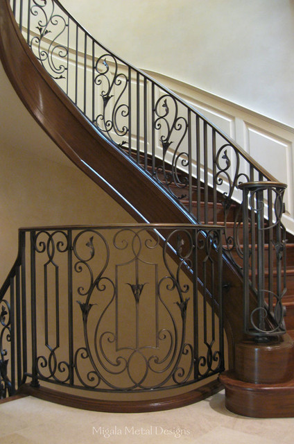 residential railing traditional staircase chicago by migala