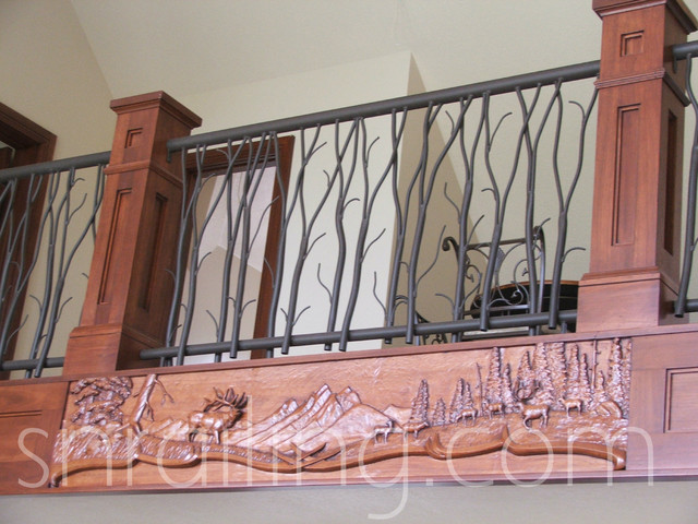 Residential railings traditional staircase salt lake Decorative railings