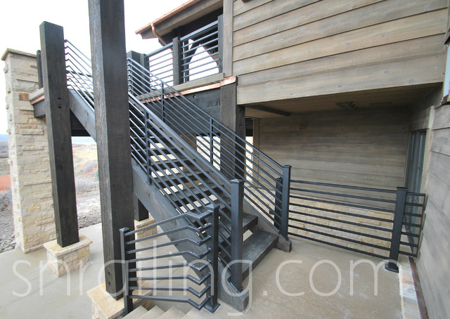 residential railings contemporary staircase salt lake city by