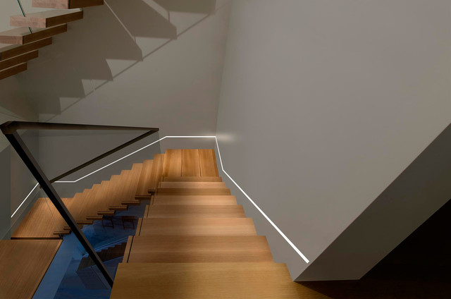 Nice Reveal Plaster In LED System Contemporary Staircase
