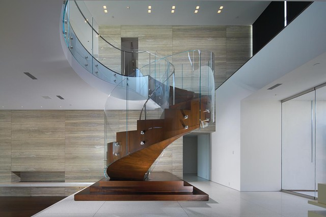 Inspiration For A Contemporary Spiral Staircase Remodel In Orange County