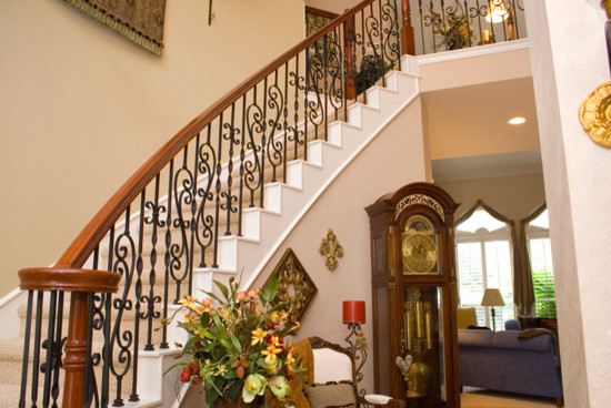 Ribbon Twisted Iron Balusters Traditional Staircase Houston By Cheap Stair Parts