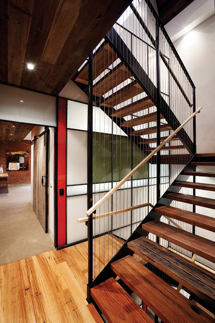 Richmond Warehouse Conversion industrial-staircase