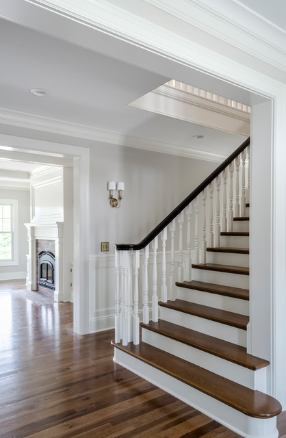 Inspiration for a timeless staircase remodel in Cleveland
