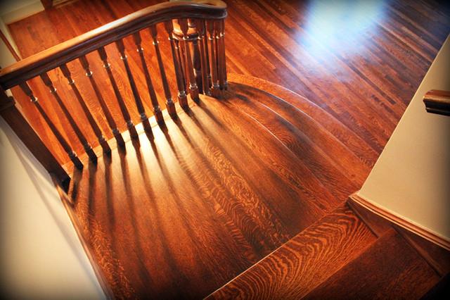 Rift and Quartered Oak Refurbish craftsman-staircase