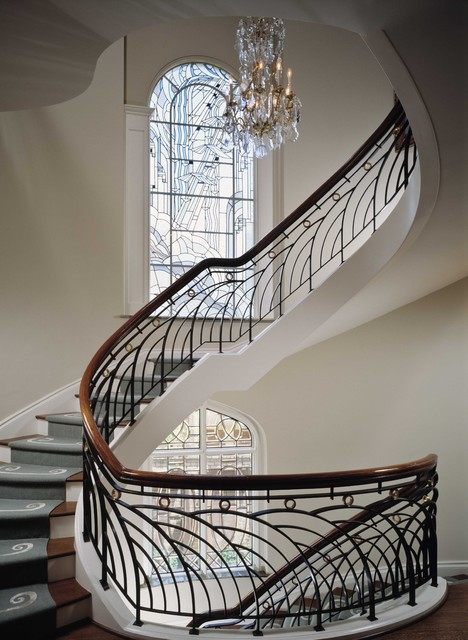 River Oaks Townhouse traditional staircase