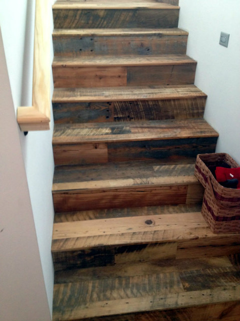 RLP flooring, paneling & door - Rustic - Staircase - Other - by Reclaimed Lumber Products