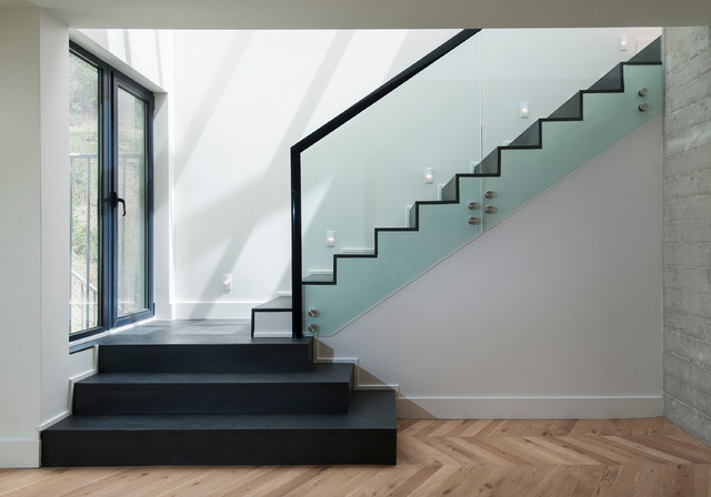 Rockwell on Sunset contemporary-staircase