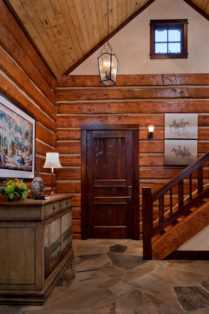 Rocky Mountain High Fishing traditional-staircase