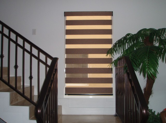roller shades traditional staircase miami by ford