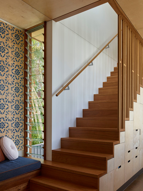 Rosalie Plinth House Contemporary Staircase Brisbane