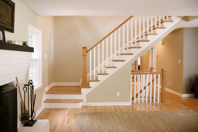 2nd story addition master bedroom bathroom traditional staircase