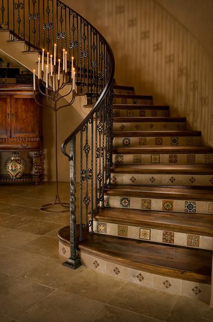 Rotunda Stairs Mediterranean Staircase Phoenix By