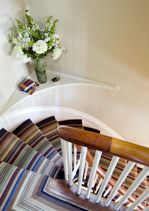 Row House Interiors Stair eclectic entry
