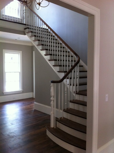 Example of a classic staircase design in Raleigh