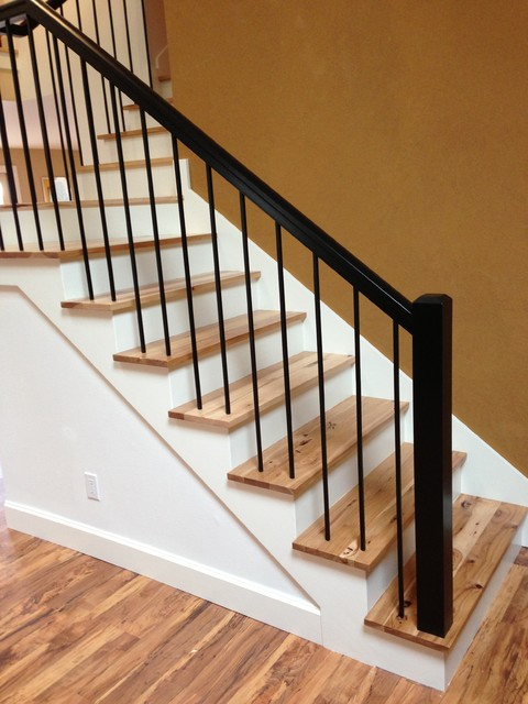 Charmant Rustic Hickory Stairs   Contemporary   Staircase   Portland ...