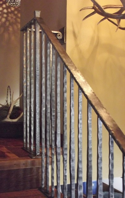 Decorative ideas for bathrooms - Rustic Railings Eclectic Staircase Other Metro By Mind Over