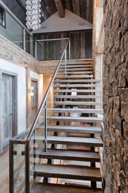 Rustic Redux Staircase Jackson By On Site