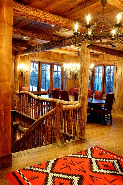 Staircase/Dining Room - Rustic - Staircase - other metro - by Peace Design