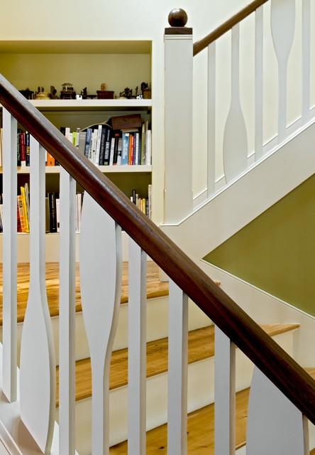 Lake House rustic-staircase