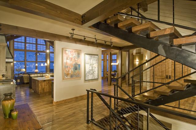 Rustic staircase for Arredare pianerottolo scale