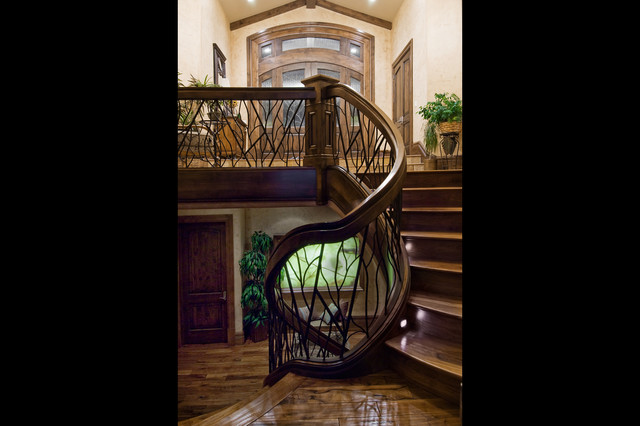 Salt Lake City, Utah Luxury Home by Markay Johnson Construction traditional-staircase
