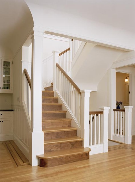 San Francisco Shingle Style traditional-staircase