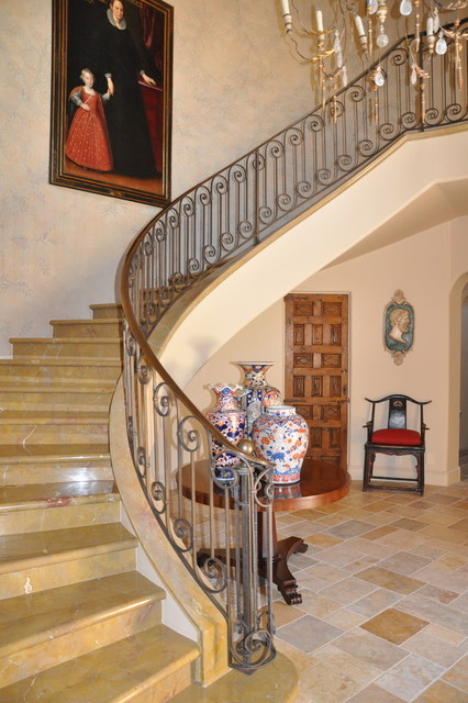 Santa Barbara Retreat mediterranean-staircase