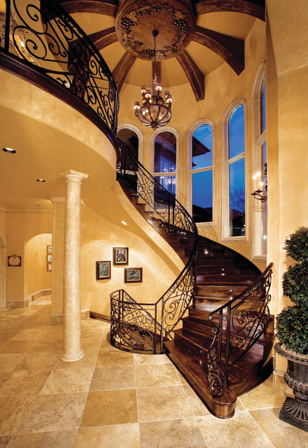 Sater Design Collection S 8068 Quot Villa Sabina Quot Home Plan Mediterranean Staircase Miami By