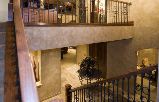 Savvy European Style Traditional Staircase