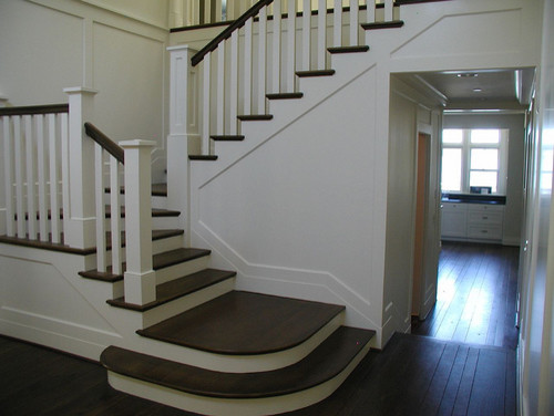 Seattle Waterfront Home traditional staircase