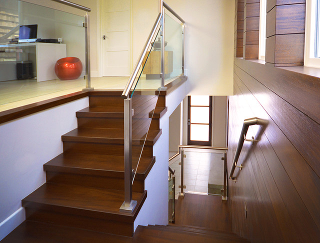 Superieur Second Floor Stair And Railing   Modern   Staircase   Orange ...