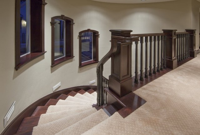 traditional staircase by Kara Bowman
