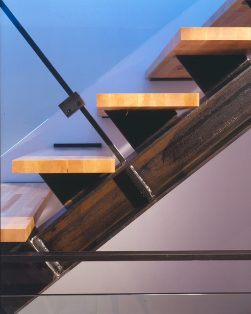 Second Story Addition contemporary-staircase