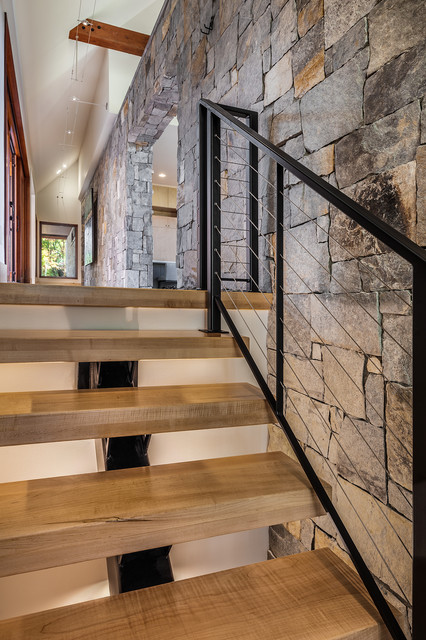 Secret Hollow Residence Rustic Staircase Other By