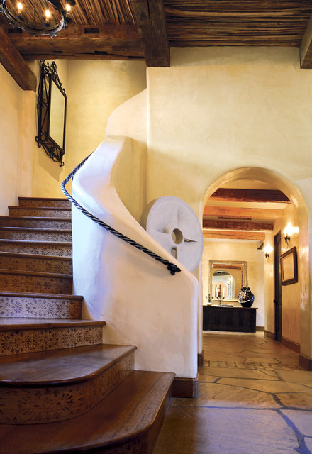 Mediterranean Staircase Tower : Seven canyons estate mediterranean staircase other