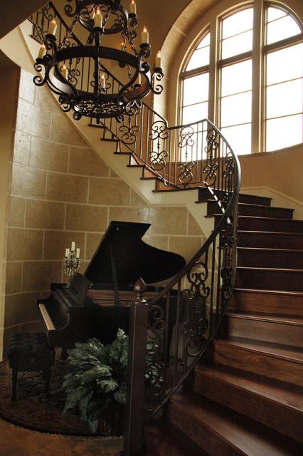 Seven Oaks Residence mediterranean-staircase