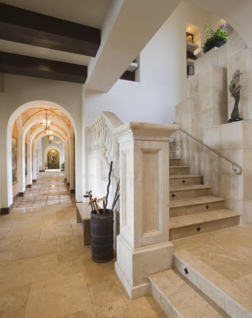Seven Oaks Showcase mediterranean-staircase