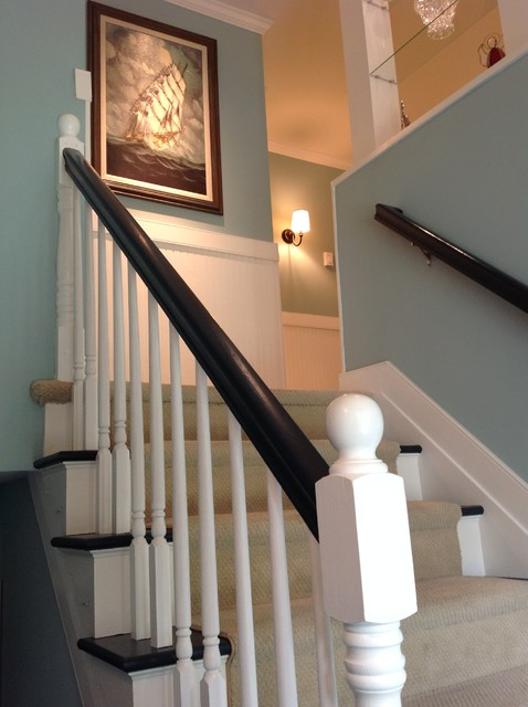 Split Foyer Staircase Ideas : Severna park split foyer renovation transitional