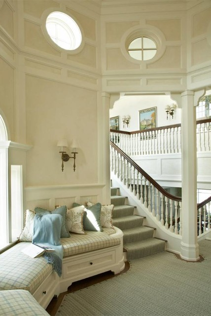 Shingle Style on the Bay beach-style-staircase