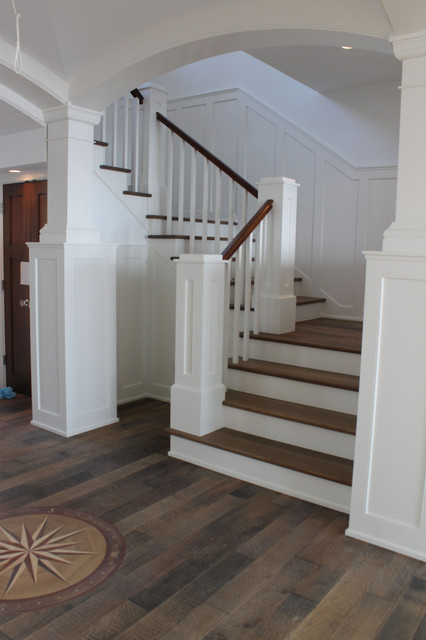 Shingle style summer home stairs traditional-staircase