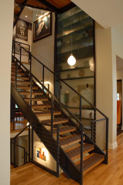 Showcase House Modern Staircase Minneapolis By