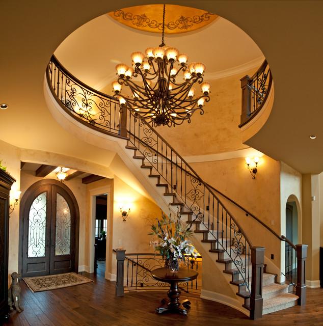 Good Silver Tommie Award Winner 2013  Frame Custom Homes Mediterranean Staircase