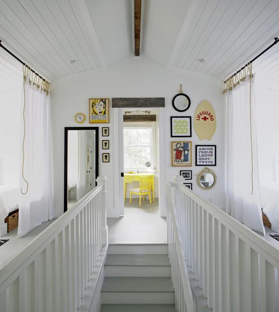 Beach Chic Coastal Cottage Home Tour With Breezy Design: Sleeping Loft