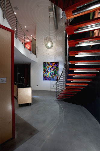 Smith Residence Stair Case modern-staircase