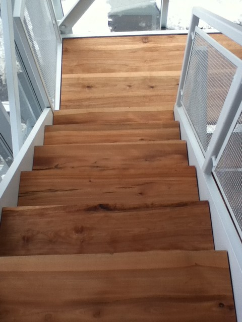 Solid Wood Stairs Live Edge Stair Treads Contemporary