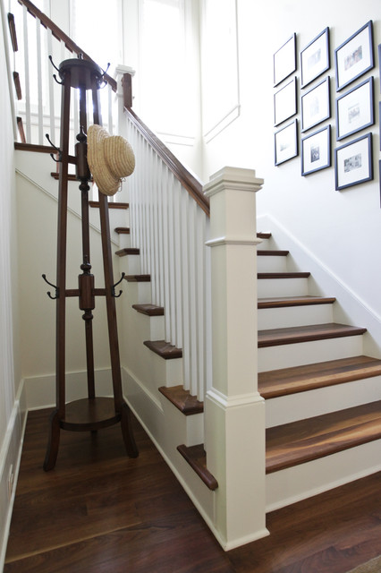 Sophisticated Beach traditional staircase