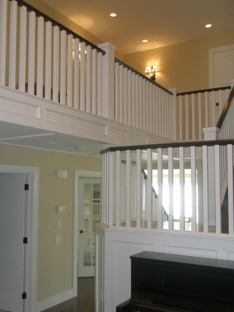 Sophisticated Farm House contemporary-staircase